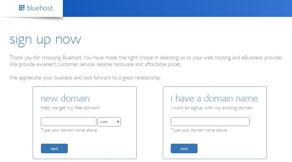 How to get a domain with Bluehost