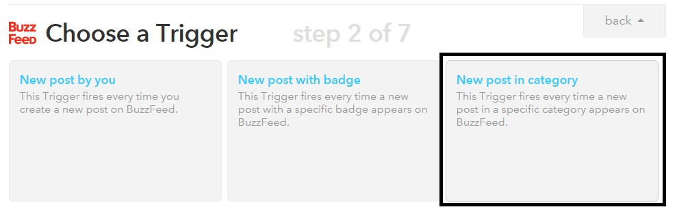 Step 3 IFTTT method